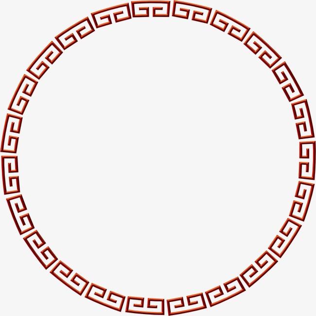 免抠元素 边框纹理 圆形古典边框